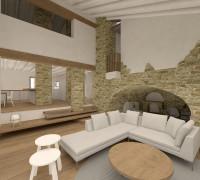 Rehabilitació d'una masia en sòl Rústic